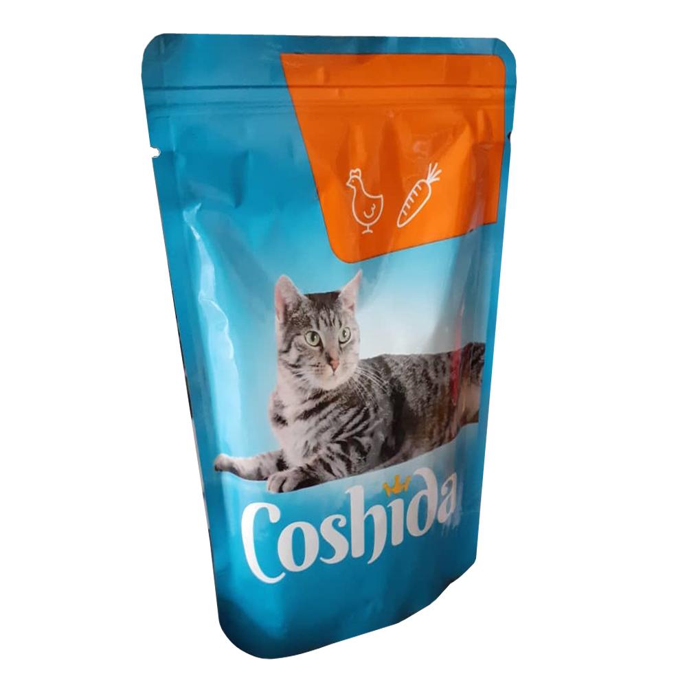 غذای تشویقی گربه کوشیدا مدل chicken & carrot وزن 100گرم