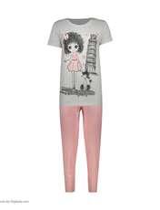 ست تی شرت و شلوار زنانه فمیلی ور طرح دخترکد 0224 -  - 5