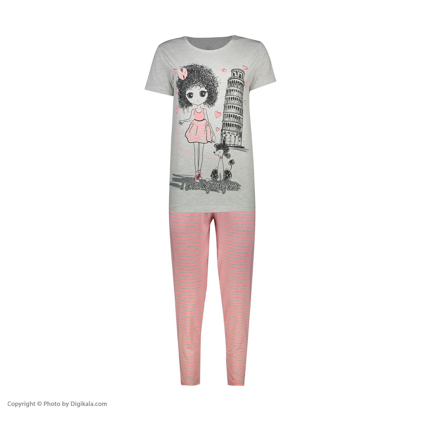 ست تی شرت و شلوار زنانه فمیلی ور طرح دخترکد 0224 -  - 6