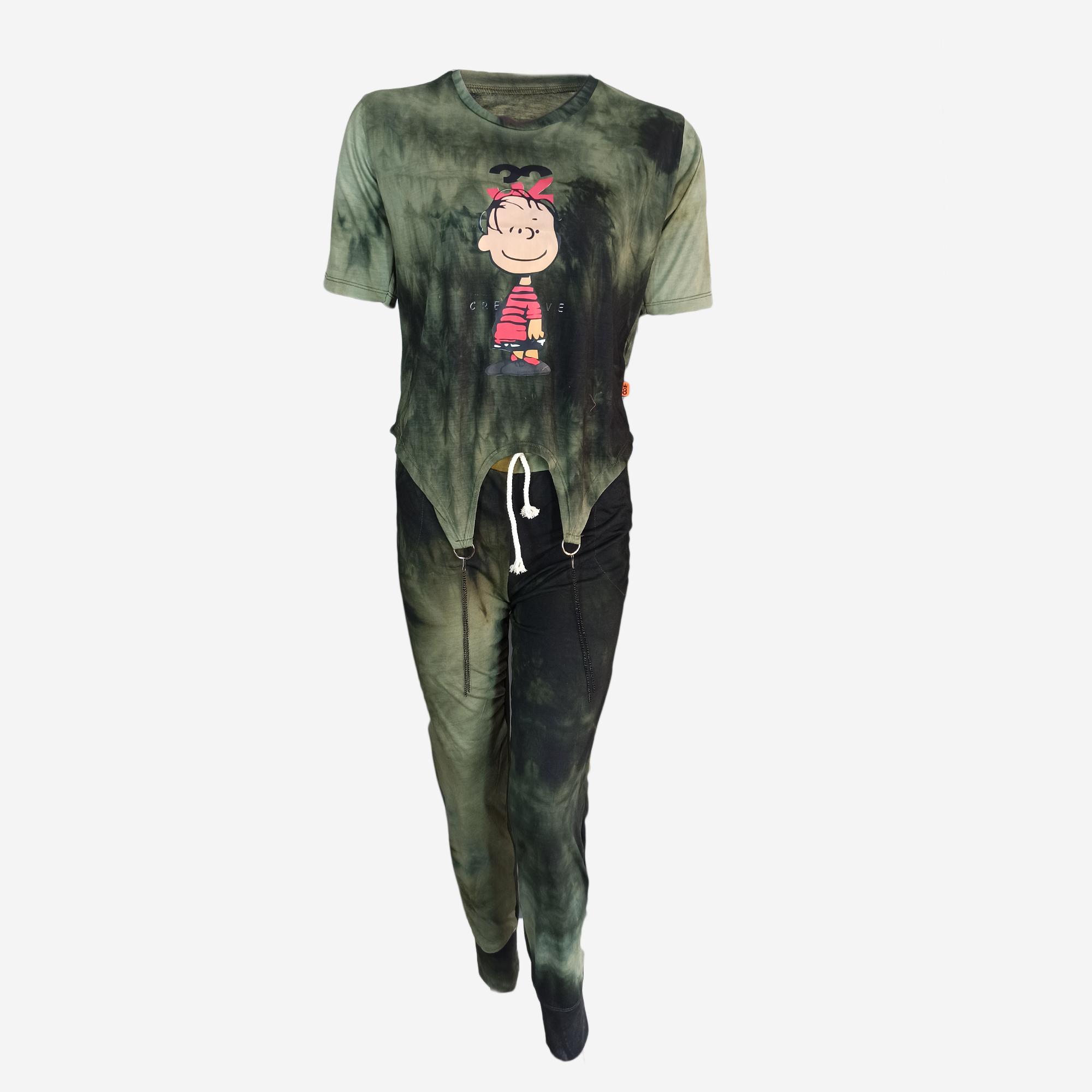 خرید                                      تی شرت آستین کوتاه و شلوار زنانه مدل e2782-2415