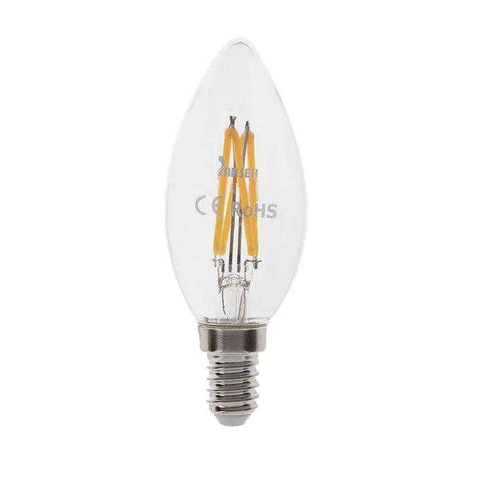 لامپ فیلامنتی 4 وات پارسه شید مدل candel پایه E14 بسته 5 عددی