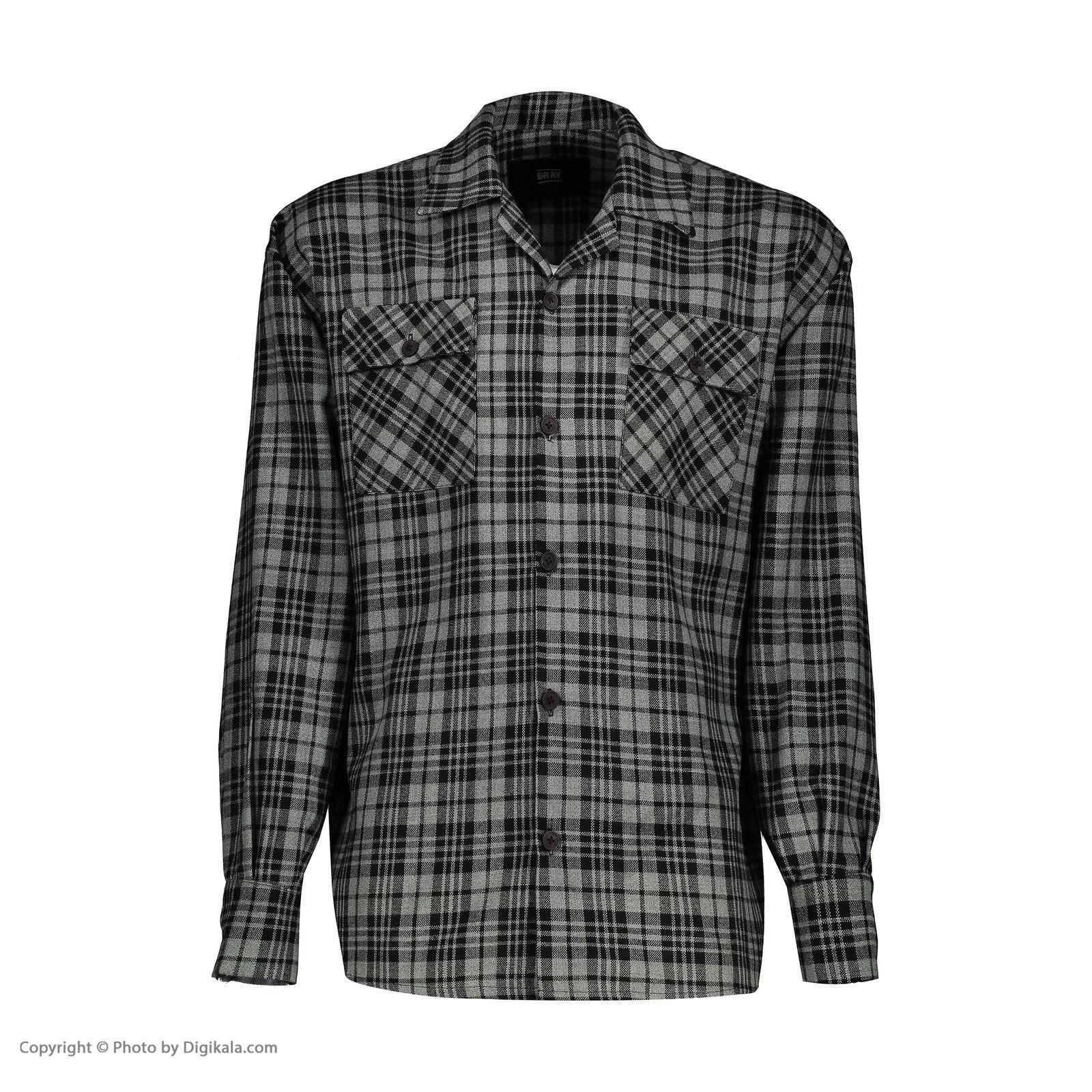 پیراهن مردانه گری مدل GW19 -  - 3