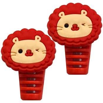 تصویر محافظ کابل مدل Cute Lion B02 بسته 2 عددی