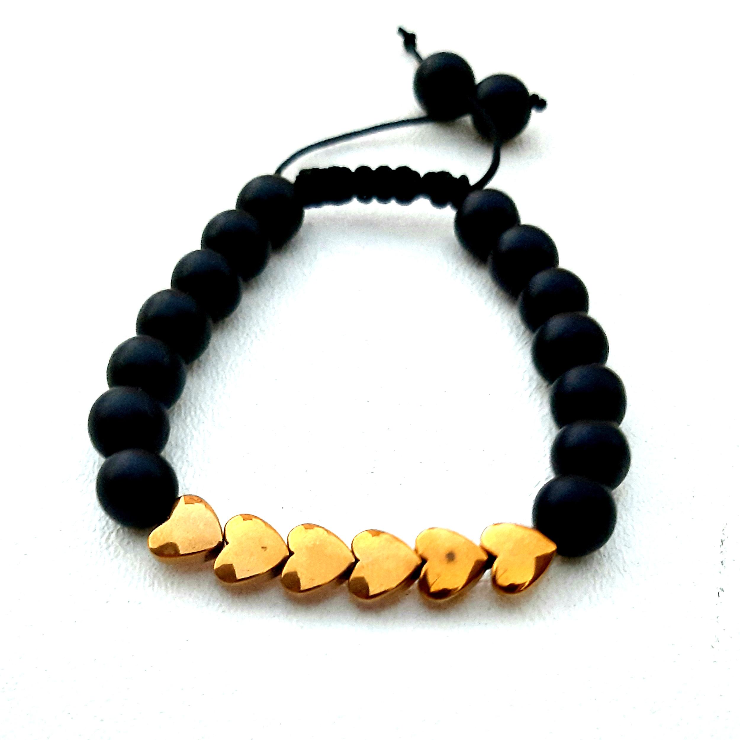 دستبند دخترانه طرح قلب کد 1044
