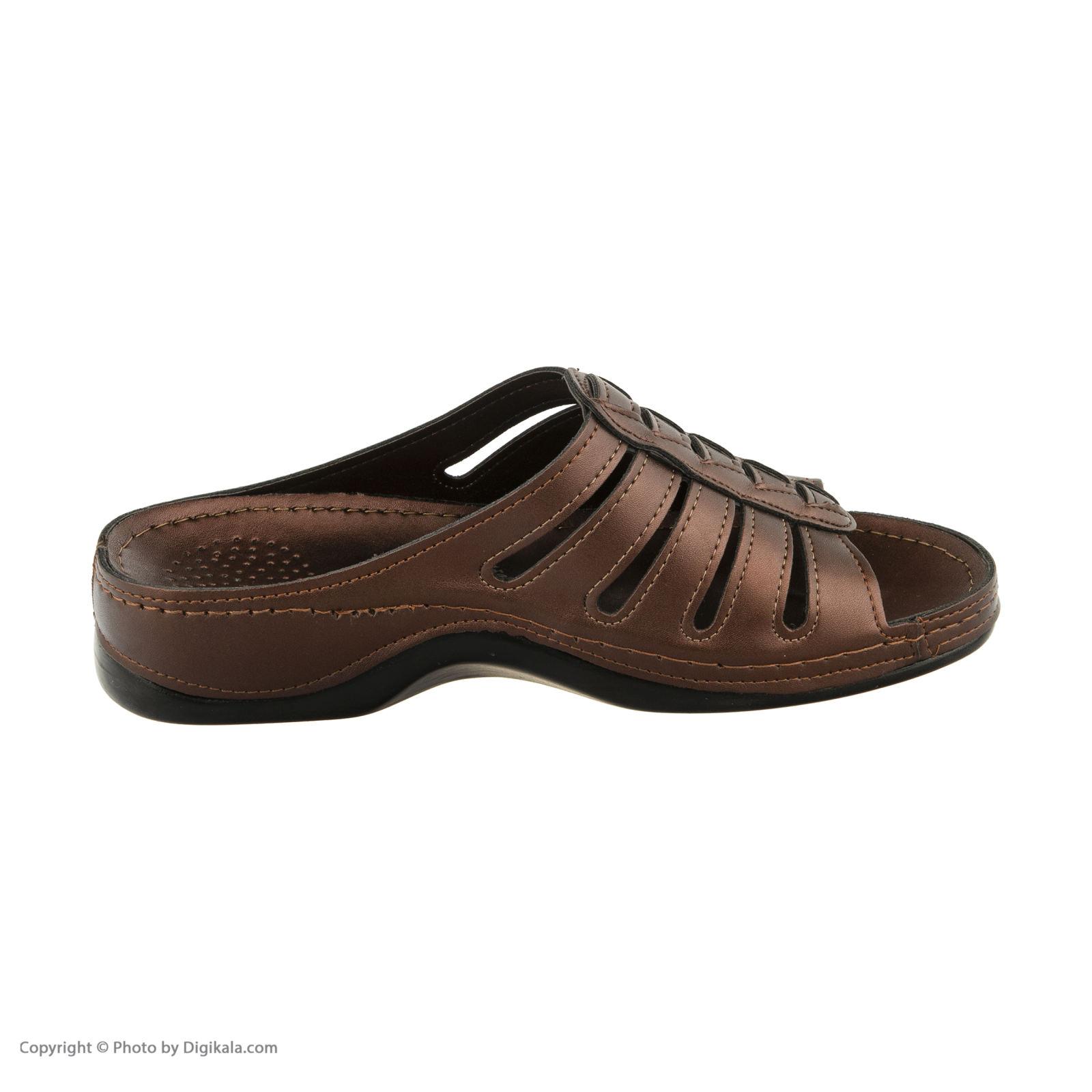 دمپایی زنانه کفش آویده کد av-0304212 رنگ مسی -  - 6