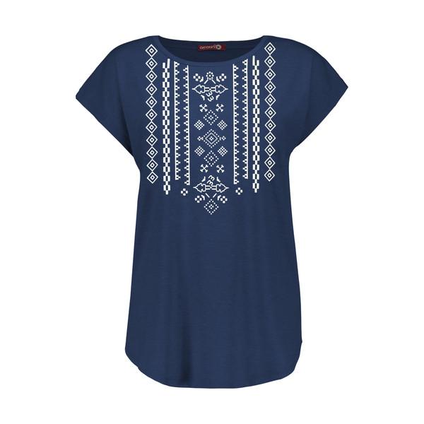 تی شرت زنانه افراتین کد 2551 رنگ سرمه ای
