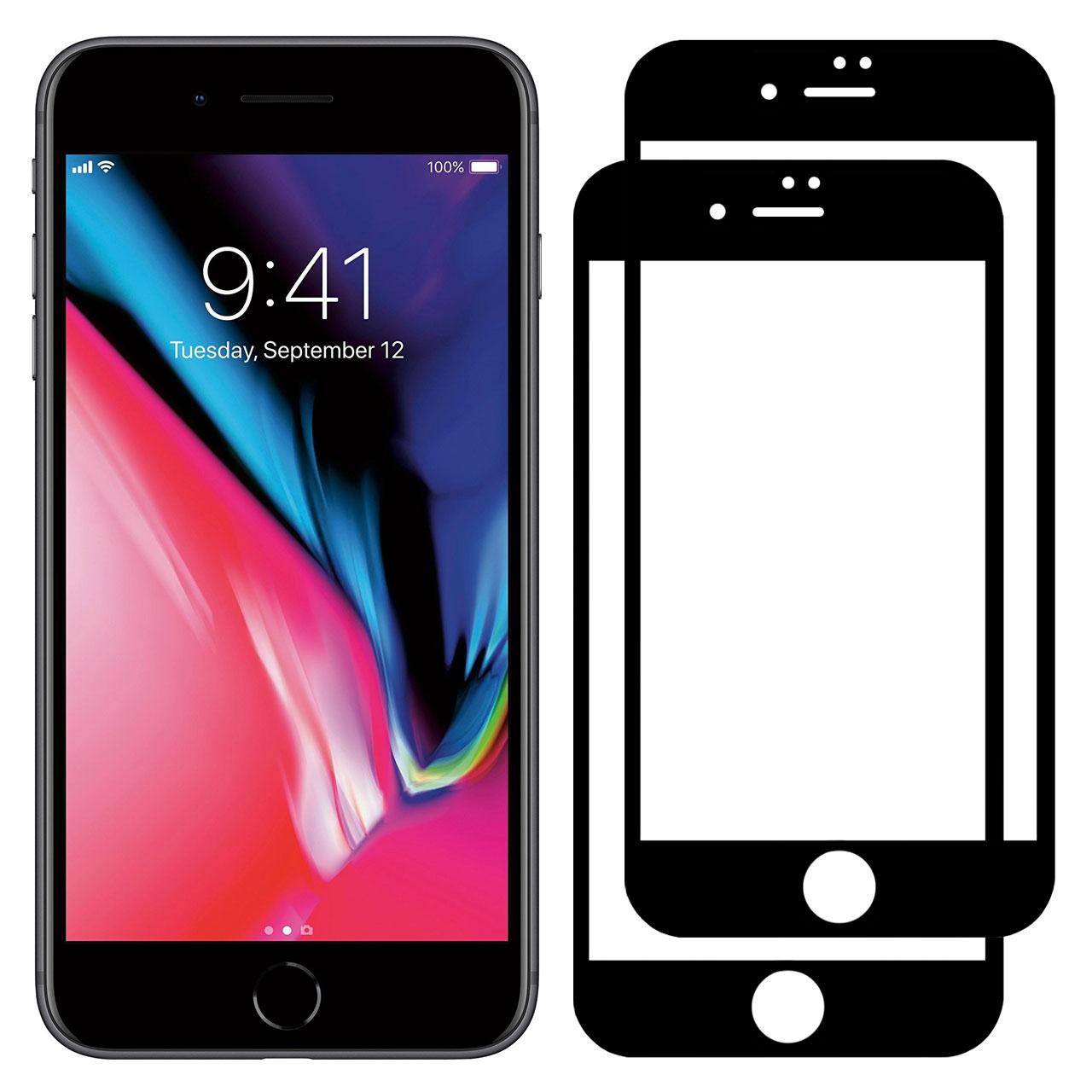 محافظ صفحه نمایش مدل FCG مناسب برای گوشی موبایل اپل iPhone 7 Plus بسته دو عددی
