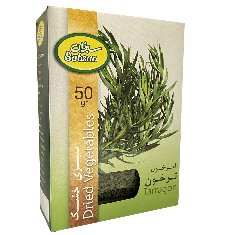 سبزی ترخون خشک  سبزان - 50 گرم