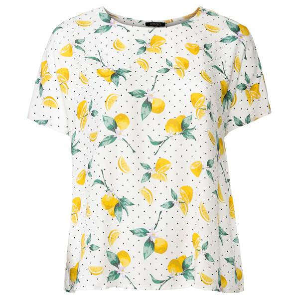 تی شرت زنانه اسمارا طرح لیمو مدل Lemon2020