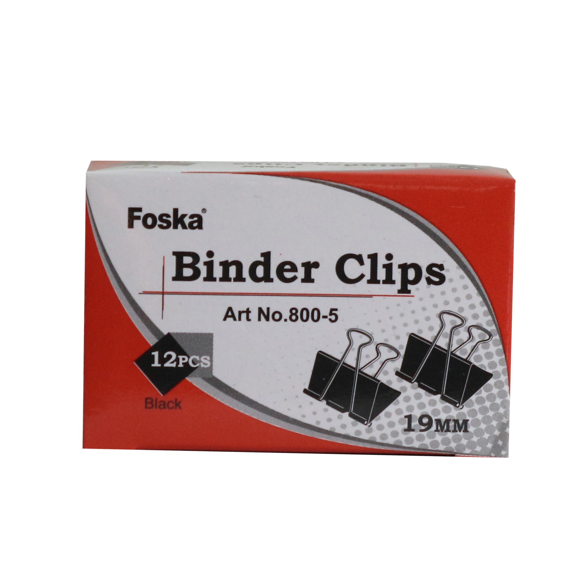 گیره کاغذ فوسکا کد 5-800 بسته 12 عددی
