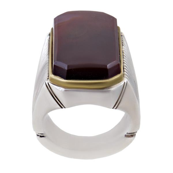 انگشتر نقره مردانه بازرگانی میلادی کد AM_271