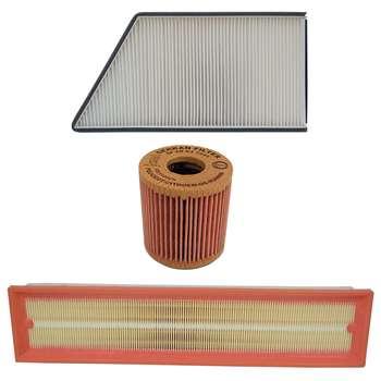 فیلتر هوا خودرو سرکان مدل SF1223 به همراه فیلتر روغن و فیلتر کابین