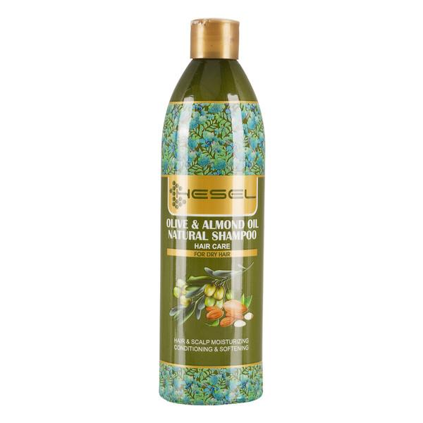 شامپو مو هسل مدل Olive & Almond oil حجم 400 میلی لیتر