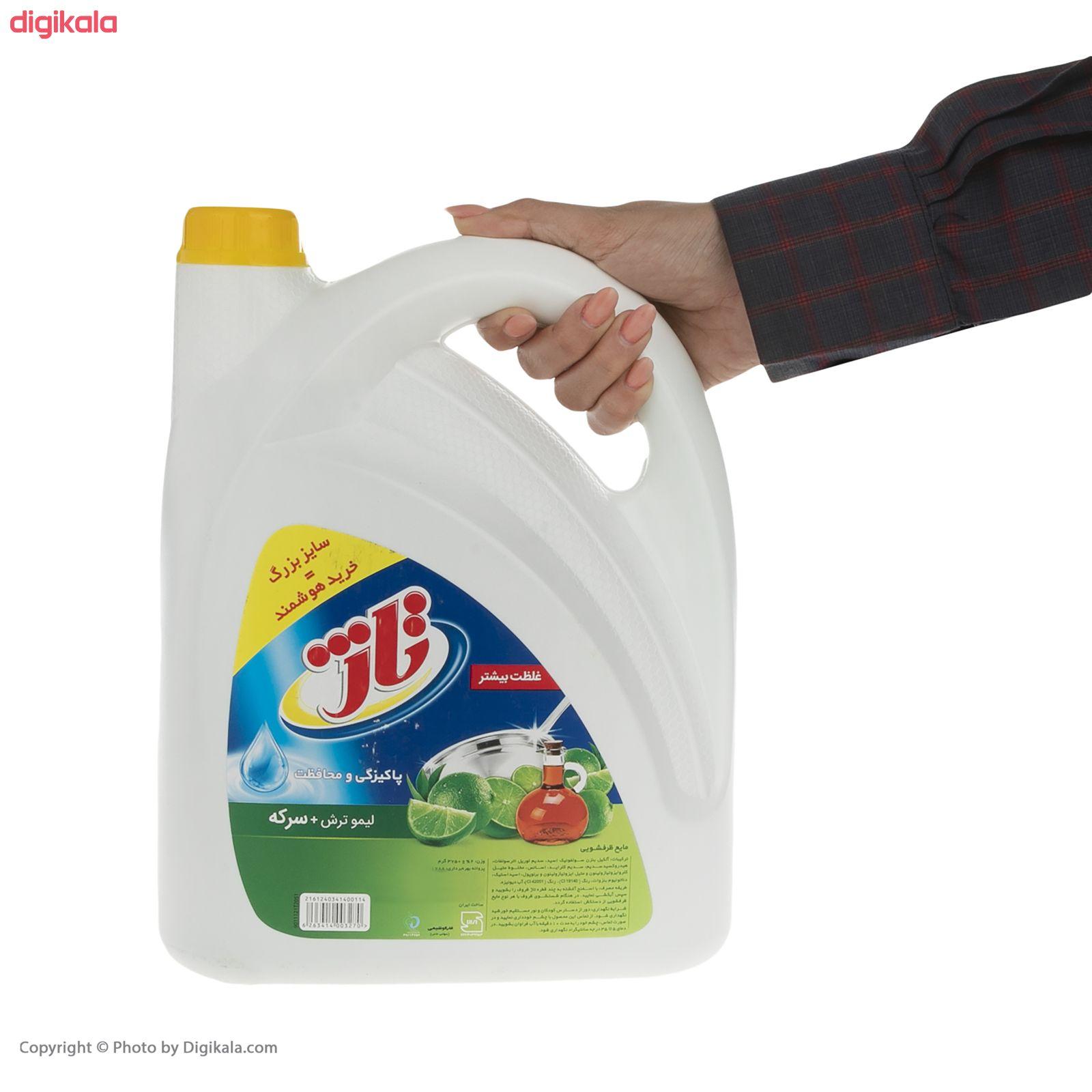 مایع ظرفشویی تاژ حاوی سرکه با رایحه لیمو سبز مقدار 3.75 کیلوگرم main 1 3
