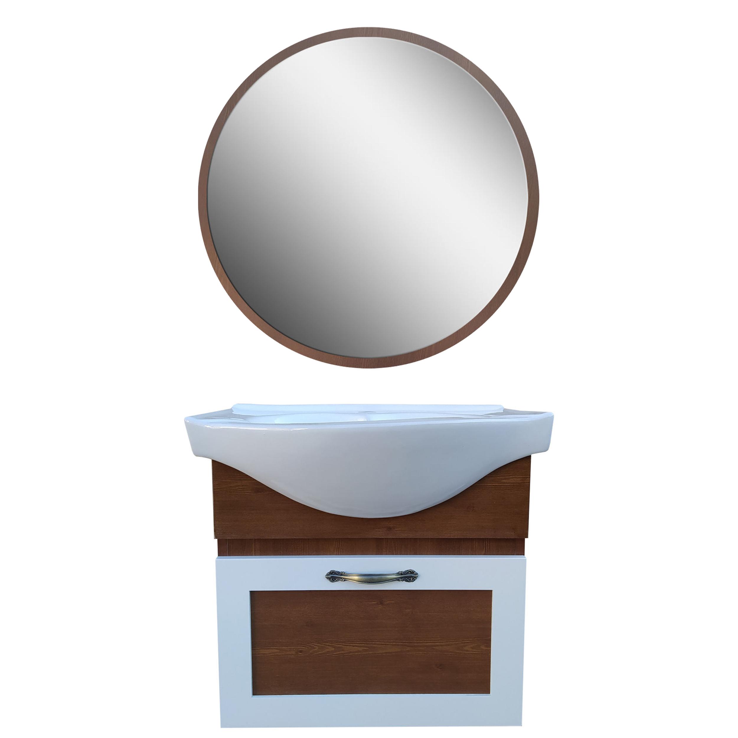 ست کابینت و روشویی مدل cm4 به همراه آینه