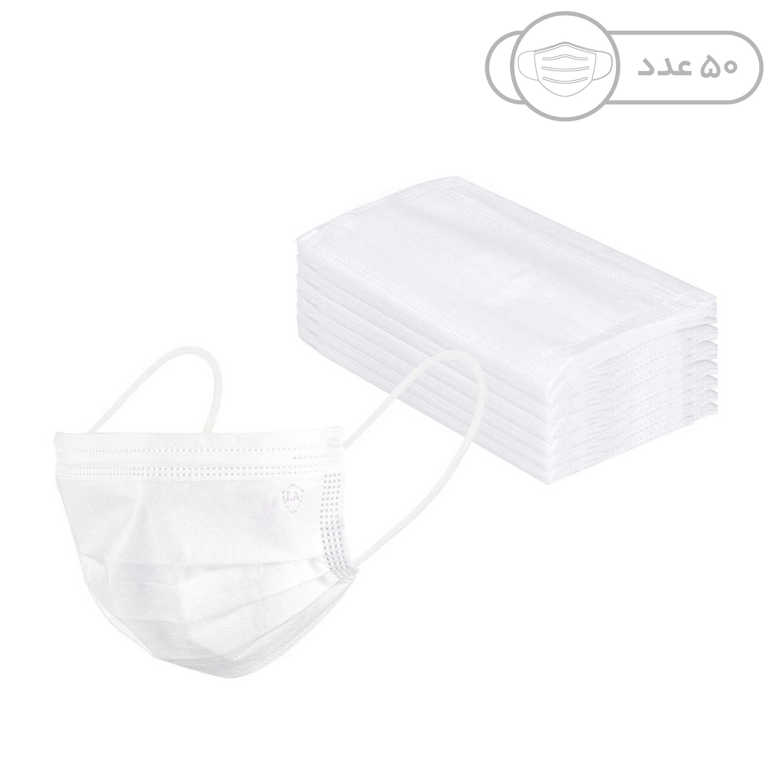50 pcs high quality Disposable protective breathable face Mask 3 Ply Non woven safe Anti-dust and viruses filter, model TIANI