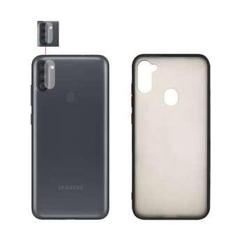 کاور گلد بوف مدل GFMPC-GL مناسب برای گوشی موبایل سامسونگ GALAXY A11 به همراه محافظ لنز دوربین