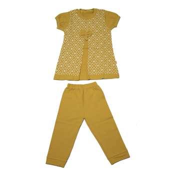 ست تی شرت و شلوارک دخترانه مدل Borna113-20