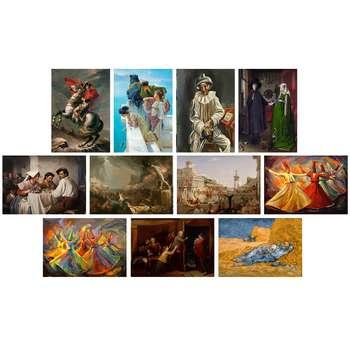 تابلو شاسی طرح معروف ترین نقاشی های جهان کد SET002 مجموعه 11 عددی