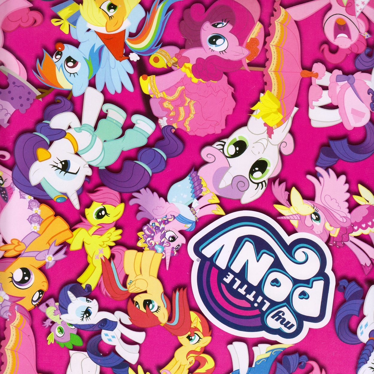 کاغذ کادو طرح little pony کد 23