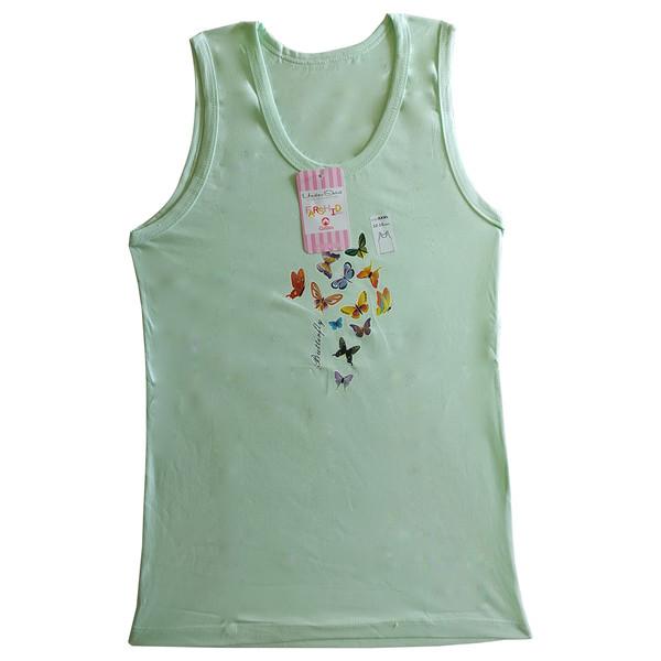 تاپ دخترانه فرشید طرح پروانه کد 30534 رنگ سبز