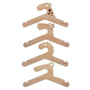 چوب لباسی نوزادی مدل حیوانات مجموعه 4 عددی