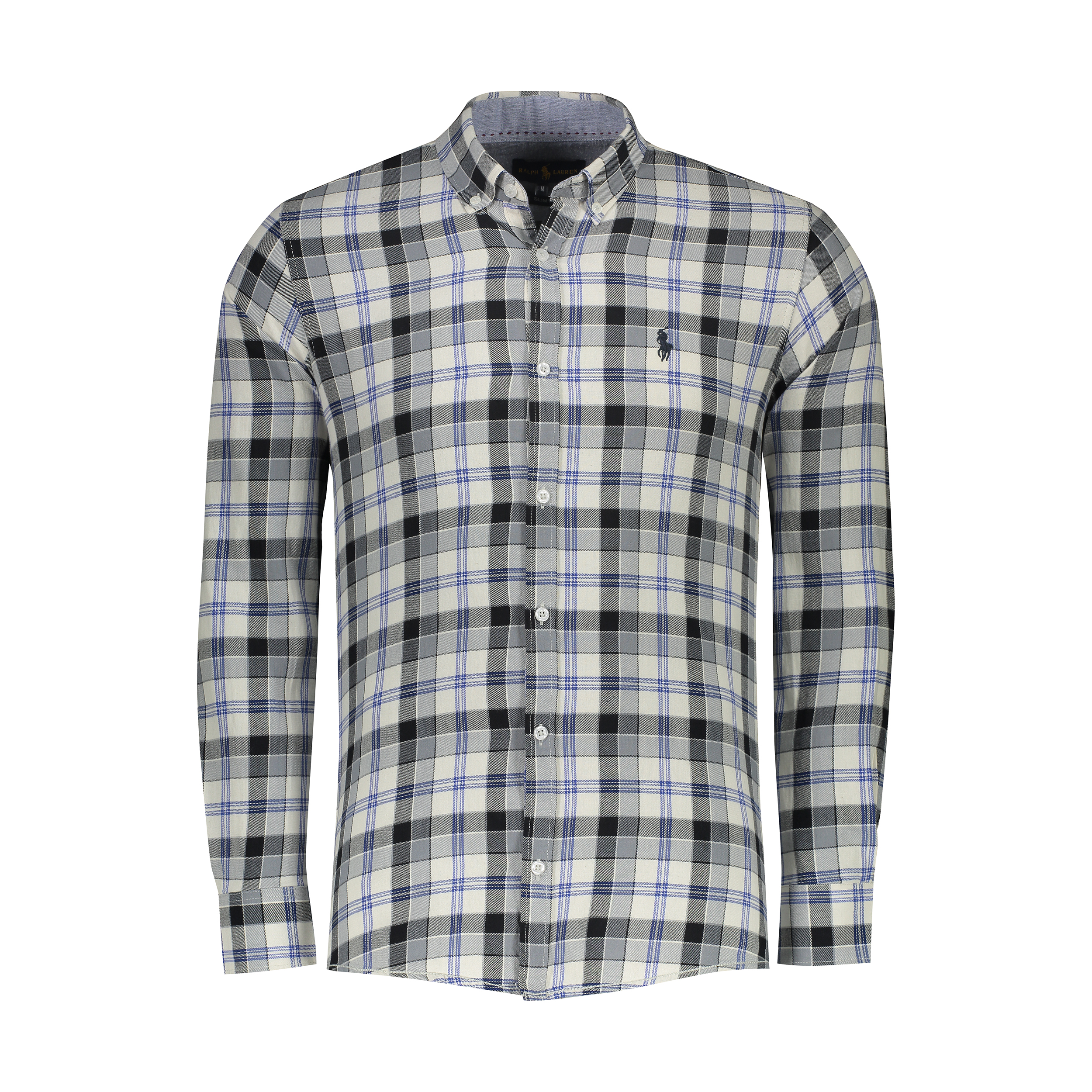 پیراهن آستین بلند مردانه پولو مدل A449