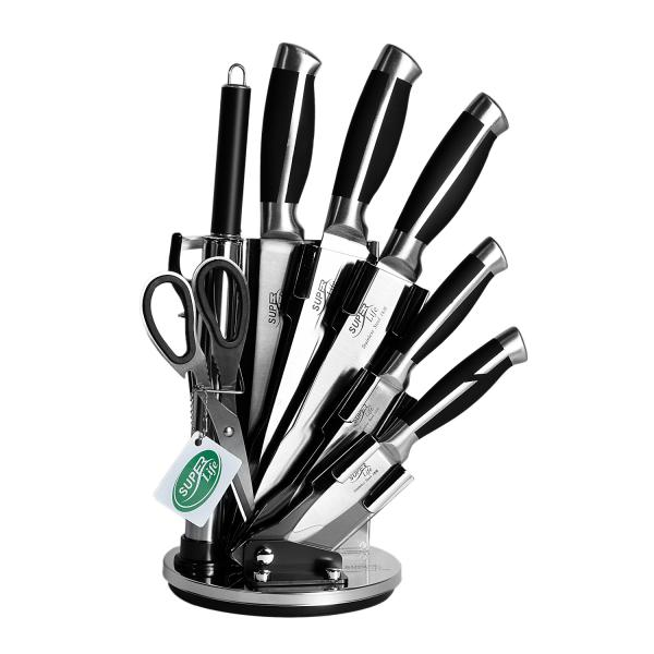 سرویس چاقوی آشپزخانه 9 پارچه سوپر لایف مدل SL-008