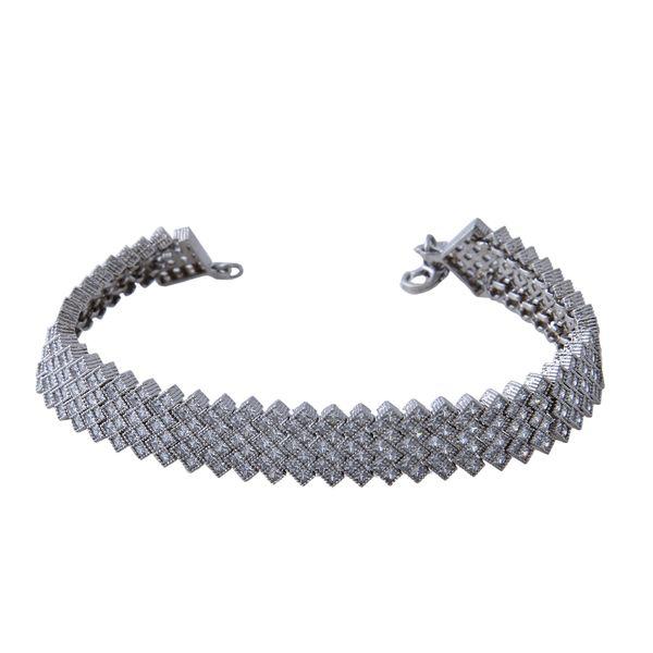 دستبند نقره زنانه بازرگانی میلادی کد DP_119