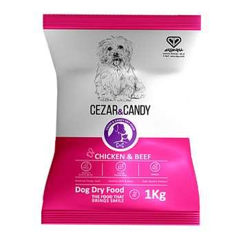 غذای خشک سگ بالغ سزار و کندی مدل Adult Small وزن 1 کیلوگرم