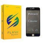 محافظ صفحه نمایش سرامیکی فلش مدل +HD مناسب برای گوشی موبایل اپل iPhone 8