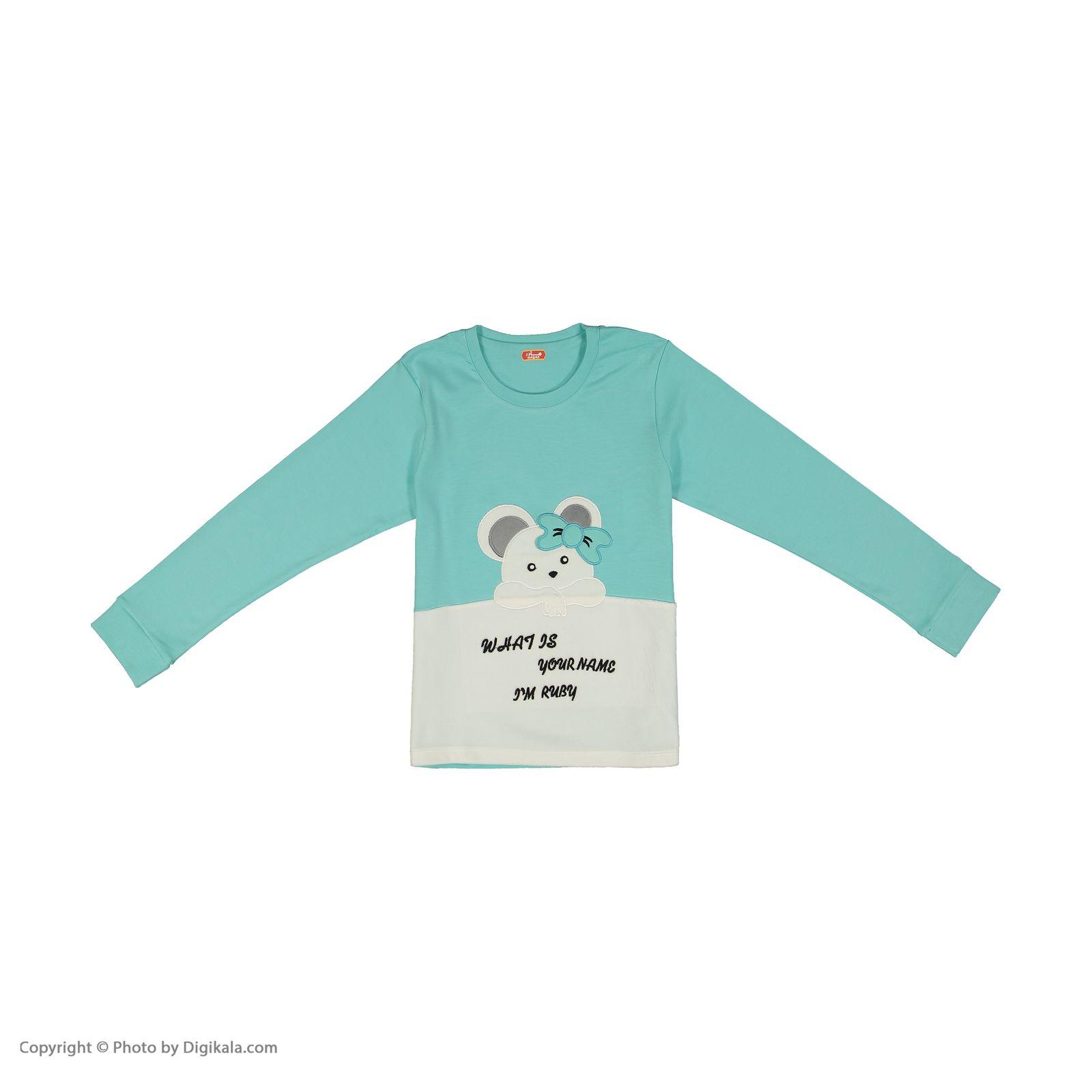 ست تی شرت و شلوار دخترانه مادر مدل 301-54 main 1 2