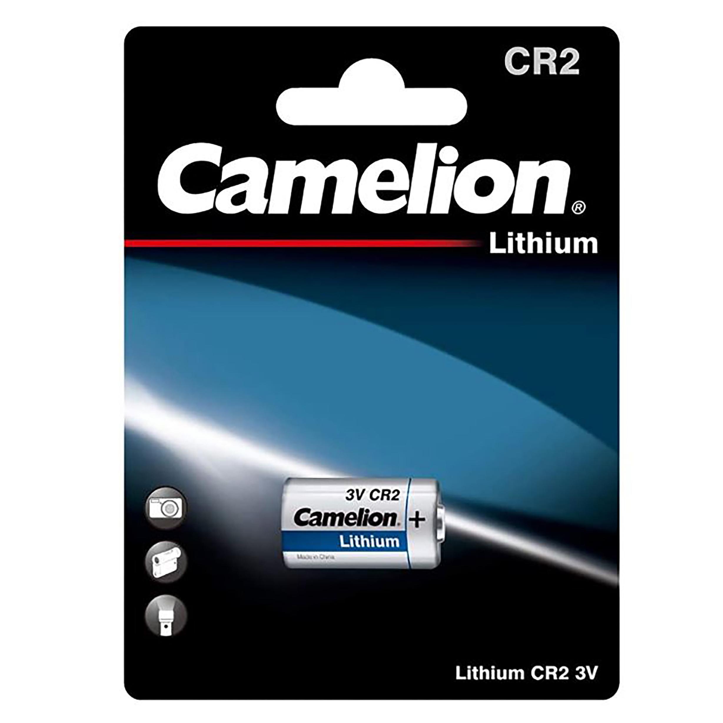 بررسی و {خرید با تخفیف} باتری لیتیومی کملیون مدل CR2 اصل