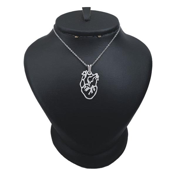 گردنبند نقره مردانه ترمه ۱طرح قلب کد mas 00651