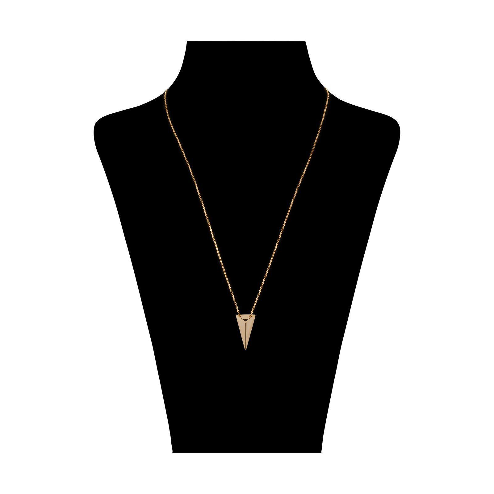 گردنبند طلا 18 عیار زنانه سنجاق مدل X074732 -  - 2
