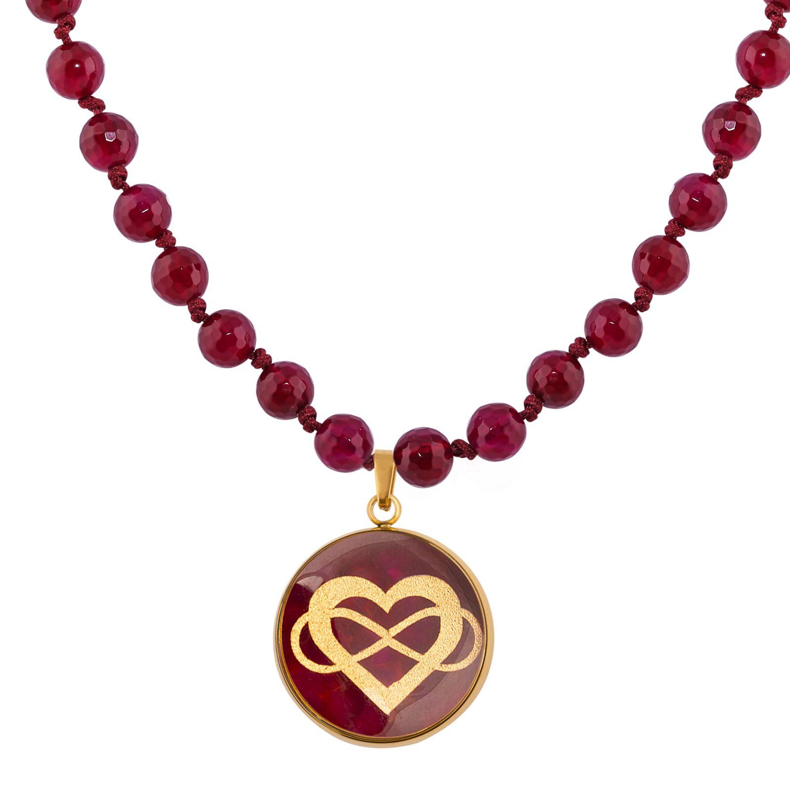 گردنبند زنانه الون طرح قلب و بی نهایت  کد AGH102 -  - 5