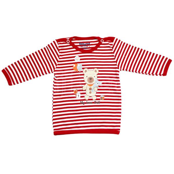 تی شرت آستین بلند نوزادی بی بی ناز طرح راه راه