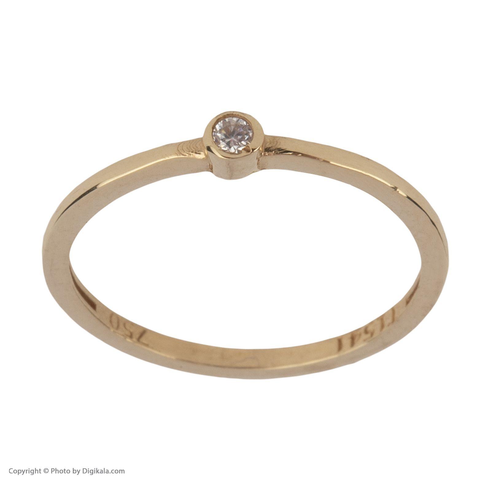 انگشتر طلا 18 عیار زنانه نیوانی مدل NR038 -  - 3