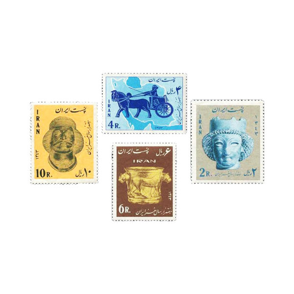 تمبر یادگاری مدل هفت هزار سال هنر ایران کد 34 مجموعه 3 عددی