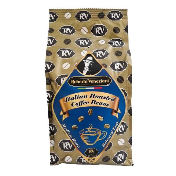 دانه قهوه با طعم ملایم آر وی - 500 گرم