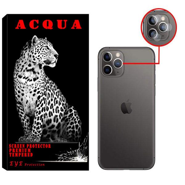 محافظ لنز دوربین آکوا مدل LN مناسب برای گوشی موبایل اپل IPHONE 11 PRO MAX بسته 2 عددی
