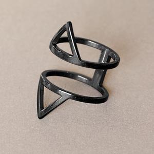 انگشتر دخترانه مدل مثلثی کد tda125