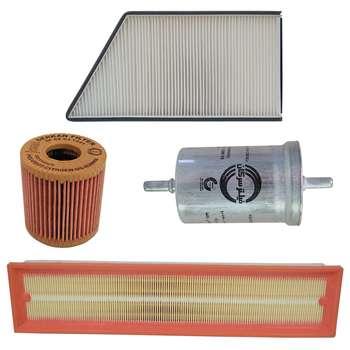 فیلتر هوا خودرو سرکان مدل SF1223 به همراه فیلتر روغن و فیلتر کابین و فیلتر بنزین