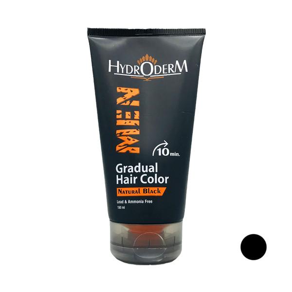 کرم رنگ مو هیدرودرم مدل Gradual حجم 150 میلی لیتر رنگ مشکی