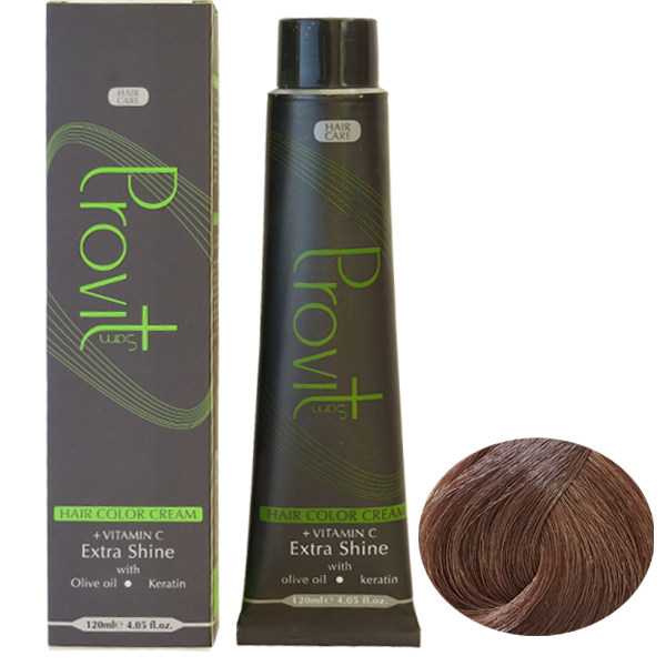 رنگ مو پرویت سری شکلاتی شماره 7/7 حجم 120 میلی لیتر رنگ بلوند شکلاتی طبیعی