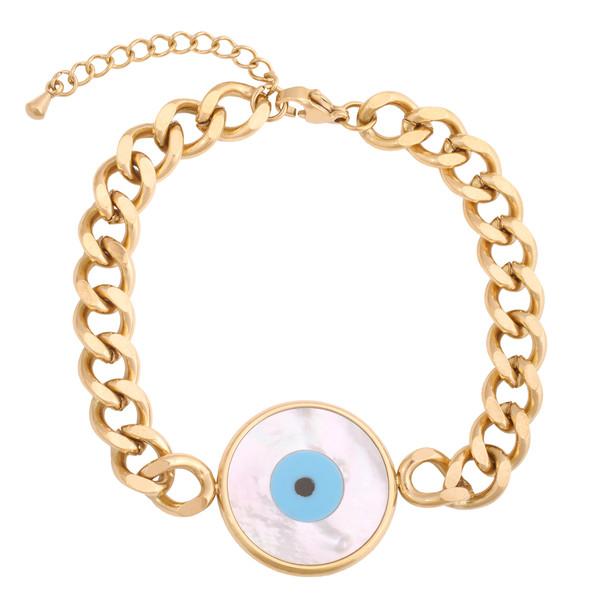 دستبند زنانه استینلس استیل مدل چشم نظر کد B3250