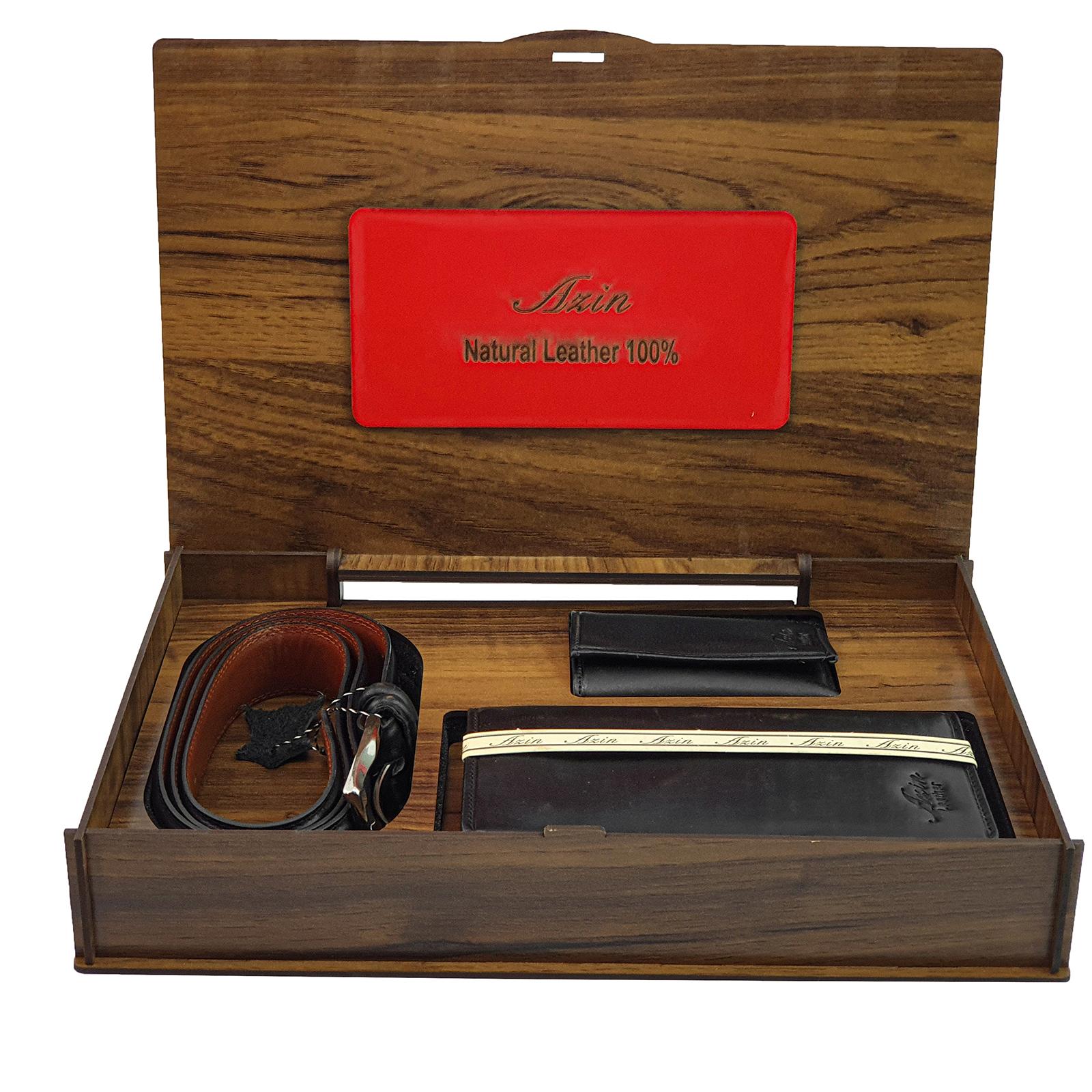 ست هدیه مردانهچرم آذین مدل 9797.1