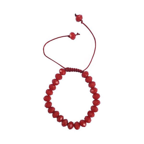 دستبند عود طرح کریستال قرمز مدل 100092