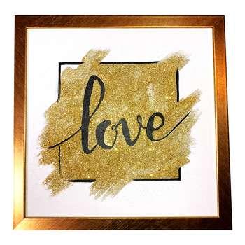 تابلو نقاشی اکرلیک طرح عشق کد 102