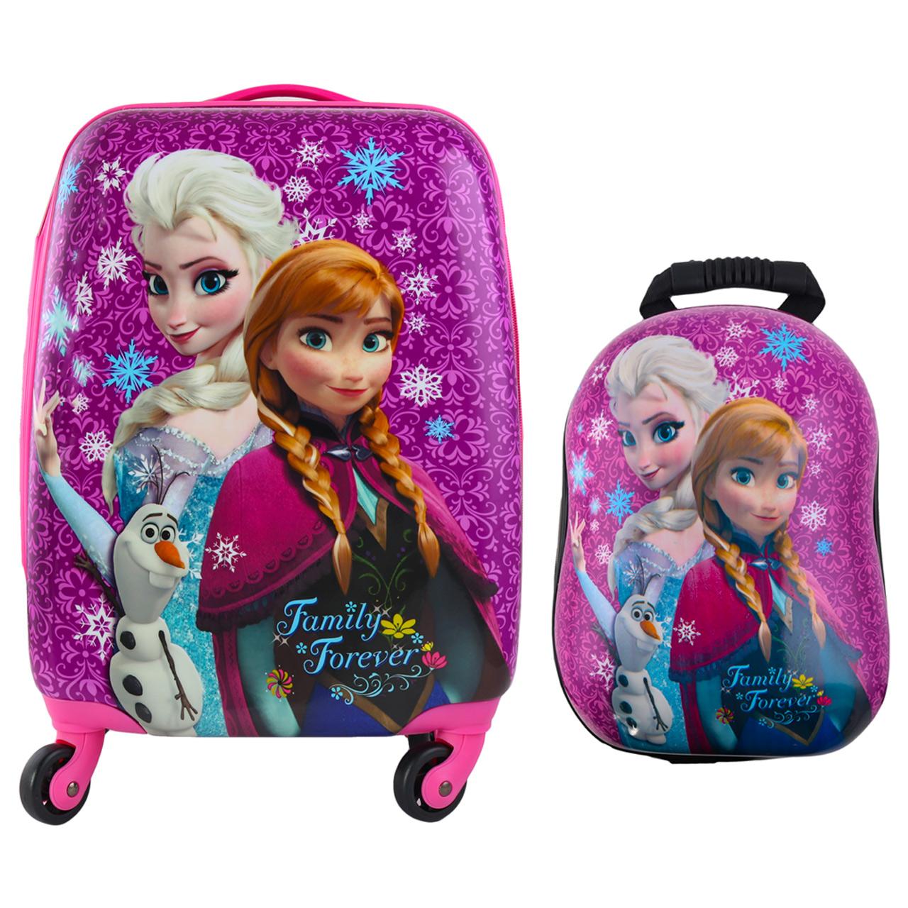 چمدان کودک طرح  السا آنا کد 2 به همراه کوله پشتی